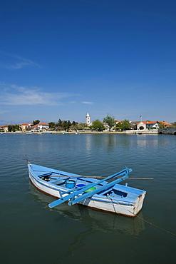 Rowboat in the lagoon of Nin, Zadar County, Croatia, Europe