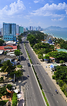 Overlooking the main street of Nha Trang, Vietnam, Southeast Asia