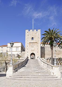 Land gate, Kopnena Vrata, Korcula, Croatia, Europe