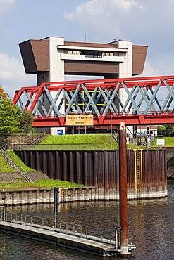 Lock, Duisburg-Meiderich ship lift, Duisburg, North Rhine-Westphalia, Germany, Europe