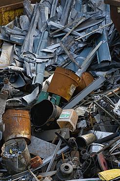 Metal collection, scrap heap