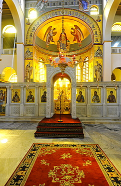 Interior, Church of Saint Demetrius or Hagios Demetrio, Thessaloniki, Chalkidiki, Macedonia, Greece, Europe