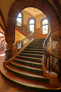 Town hall of Koepenick, interior, staircase, where the Captain of Koepenick walked down the stairs, Berlin Koepenick, Berlin, Germany, Europe