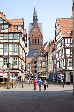 Historic centre, Kramerstrasse, Hannover, Lower Saxony, Germany, Europe