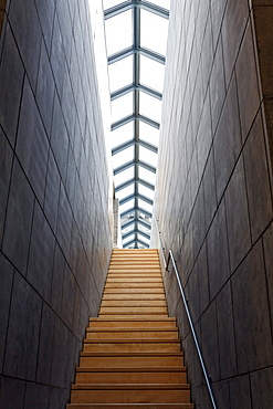 Contemporary staircase in the former lobby, Kurhaus Kleve art museum, Kleve, Niederrhein region, North Rhine-Westphalia, Germany, Europe