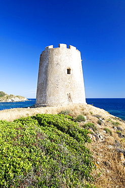 Saracen Tower of Piscinni, Costa del Sud, Sulcis Province, Sardinia, Italy, Europe