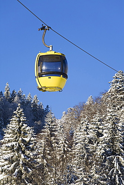 Cabin of the cable car up Belchen summit, Black Forest, Baden-Wuerttemberg, Germany, Europe