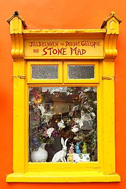 Display window, Kinsale, County Cork, Republic of Ireland, British Isles, Europe