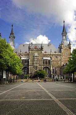 Aachen town hall, Aachen, North Rhine-Westfalia, Germany, Europe