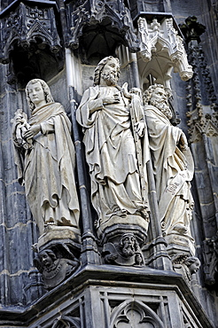 Sculptures, Aachen Cathedral, Aachen, North Rhine-Westfalia, Germany, Europe