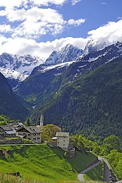 Soglio, Bregaglia, canton of Grisons, Switzerland, Europe