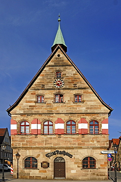Old town hall on the m arket square, Marktplatz 1, Lauf an der Pegnitz, Middle Franconia, Bavaria, Germany, Europe