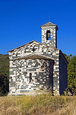 Pisan church of San Michele de Murato, Nebbio, Corsica, France, Europe