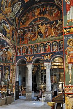 Interior, church Biserica Sf Gheorghe Nou, Bucharest, Romania, Europe