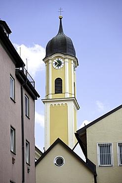 Protestant-Lutheran church, 1604, Kaufbeuren, Allgaeu, Bavaria, Germany, Europe