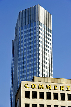 Commerzbank Tower, Eurotower, European Central Bank, ECB, Financial District, Frankfurt am Main, Hesse, Germany, Europe