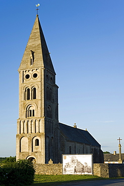 Church of Colleville sur Mer, Omaha Beach, Normandy, France, Europe