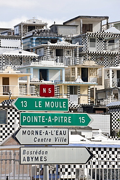 Guide to the N5, Morne a l'Eau, Grande-Terre, Guadeloupe island, French Antilles, Lesser Antilles, Caribbean