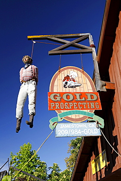 Historic gold mining town of Jamestown, California, USA
