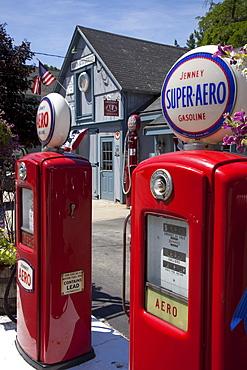 Antique Aero gasoline pumps, Amherst, New Hampshire, USA