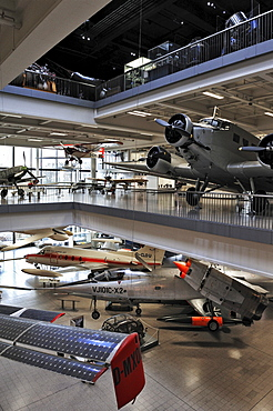 Hall for Aviation and Aerospace, Deutsches Museum, Munich, Bavaria, Germany, Europe