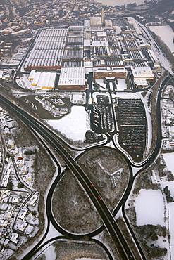 Aerial view, GM Opel plant, Bochum, Ruhrgebiet region, North Rhine-Westphalia, Germany, Europe