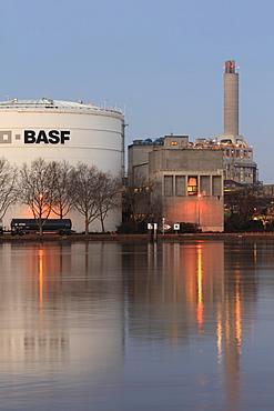 Site of BASF in Ludwigshafen am Rhein, Rhineland-Palatinate, Germany, Europe