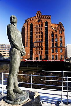 International Maritime Museum and Stoertebeker statue at Magdeburg Harbour in HafenCity, Hamburg, Germany, Europe