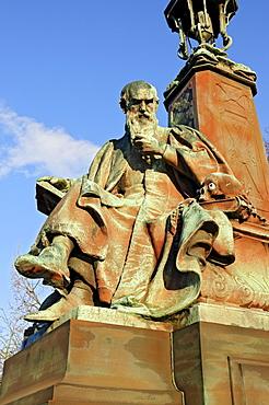 """Philosophy"" statue on Kelvin Way Bridge, Kelvingrove Park, Glasgow, Scotland, United Kingdom, Europe"