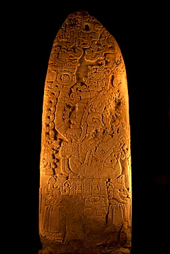 Stela nº 31, Sian Chaan Kawil, Stormy Sky, Double Comb, Archeological Museum, Tikal National Park, Peten Department, Guatemala, Central America