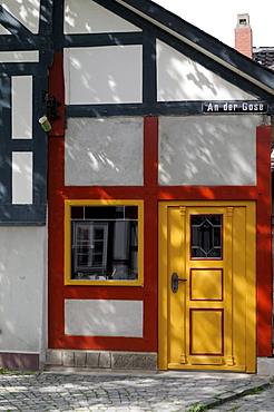 Half-timbered house in Goslar, Lower Saxony, Germany, Europe