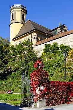 Castle of the prince of Hohenlohe-Kirchberg, Kirchberg an der Jagst, Baden-Wuerttemberg, Germany, Europe