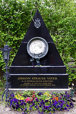 Grave of Johann Strauss, the Father, Wiener Zentralfriedhof, Vienna's central cemetery, honorary grave, Vienna, Austria, Europe