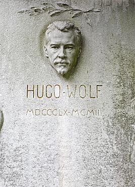 Grave of Hugo Wolf, composer, Wiener Zentralfriedhof, Vienna's central cemetery, honorary grave, Vienna, Austria, Europe