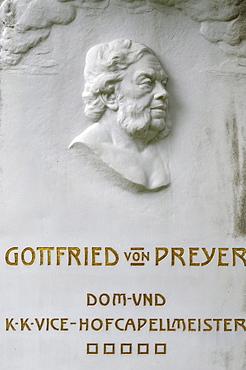 Grave of Gottfried von Preyer, composer, Wiener Zentralfriedhof, Vienna's central cemetery, honorary grave, Vienna, Austria, Europe