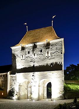 Guard tower, Sighisoara, Transylvania, Romania, Europe