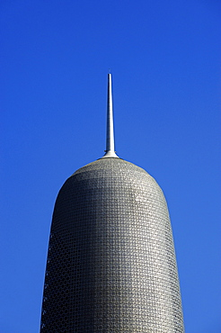 Top of the skyscraper Burj Qatar, architect Jean Nouvel, Doha, Qatar, Arabian Peninsula, Persian Gulf, Middle East, Asia