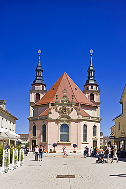 Protestant city church, Ludwigsburg, Neckar valley, Baden-Wuerttemberg, Germany, Europe