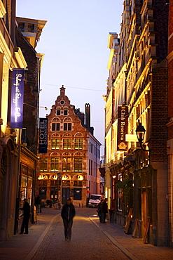 Historic district of Ghent, Jan Breydelstraat street, Ghent, East Flanders, Belgium, Europe