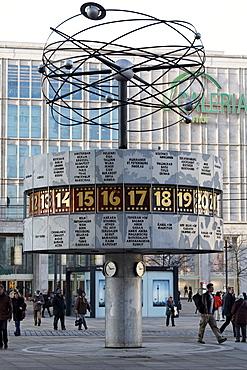 Urania World Clock on Alexanderplatz square, Mitte district, Berlin, Germany, Europe