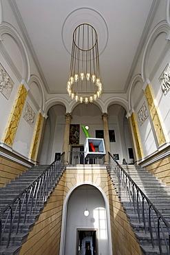 Staircase in the style of historicism, Kunstakademie Duesseldorf arts academy, North Rhine-Westphalia, Germany, Europe