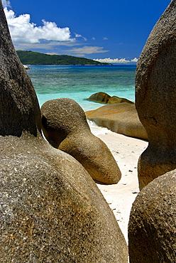 Granite rocks on the Ile de Coco, Seychelles, Africa