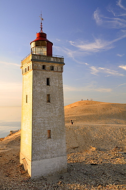 Old lighthouse on Rubjerg Knude, a wandering dune in Denmark, Europe