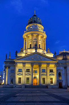 German Cathedral, Gendarmenmarkt, Friedrichstadt, Berlin, Germany, Europe