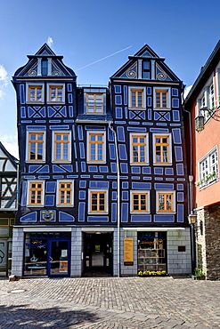Crooked house, Idstein, German Half-Timbered House Road, Rheingau-Taunus district, Hesse, Germany, Europe