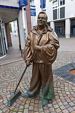 Harry von de Gass, bronze figure, historic town centre of Limburg, Hesse, Germany, Europe