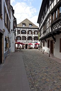 Half-timbered houses, Gerber Quarter, Petite France, Strasbourg, Alsace, France, Europe