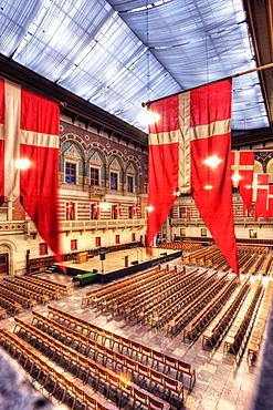 Copenhagen City Hall, interior, Copenhagen, Denmark, Europe