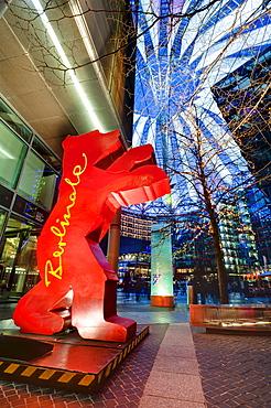 Berlinale Bear in the Sony Center, Berlin, Germany, Europe