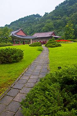 Buddhist Pohyon Temple on Mount Myohyang-san, North Korea, Asia